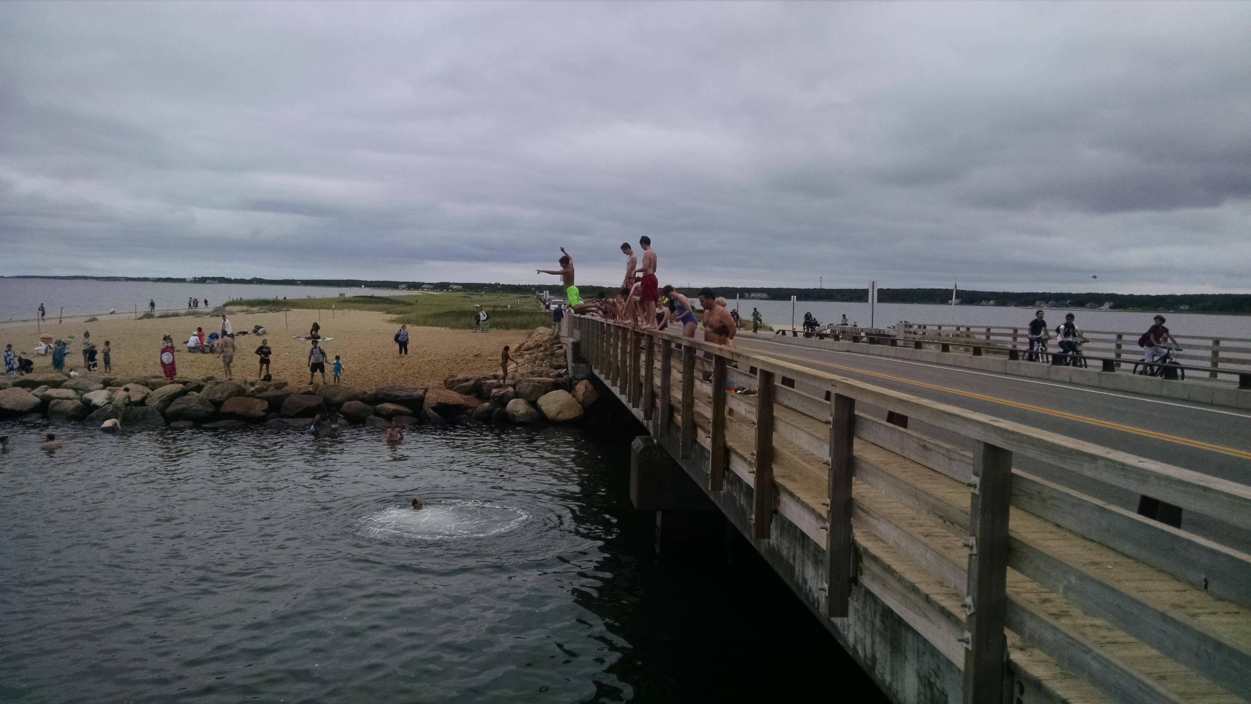 Jumping Off Jaws Bridge