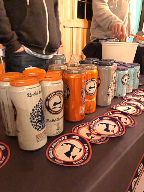 Cans of Wash Ashore Beer