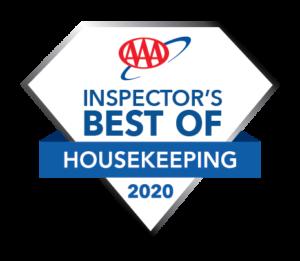 AAA Best Housekeeping 2020 Hotel Award Logo
