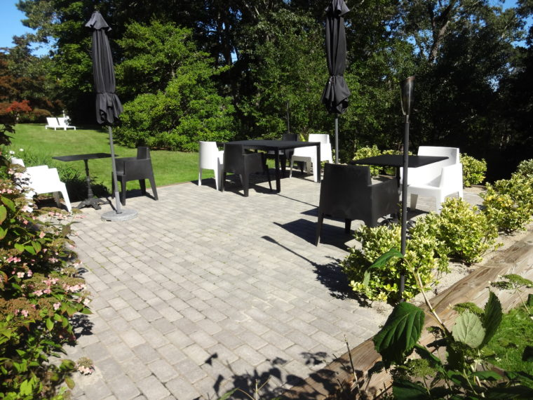 Garden Patio With Tables