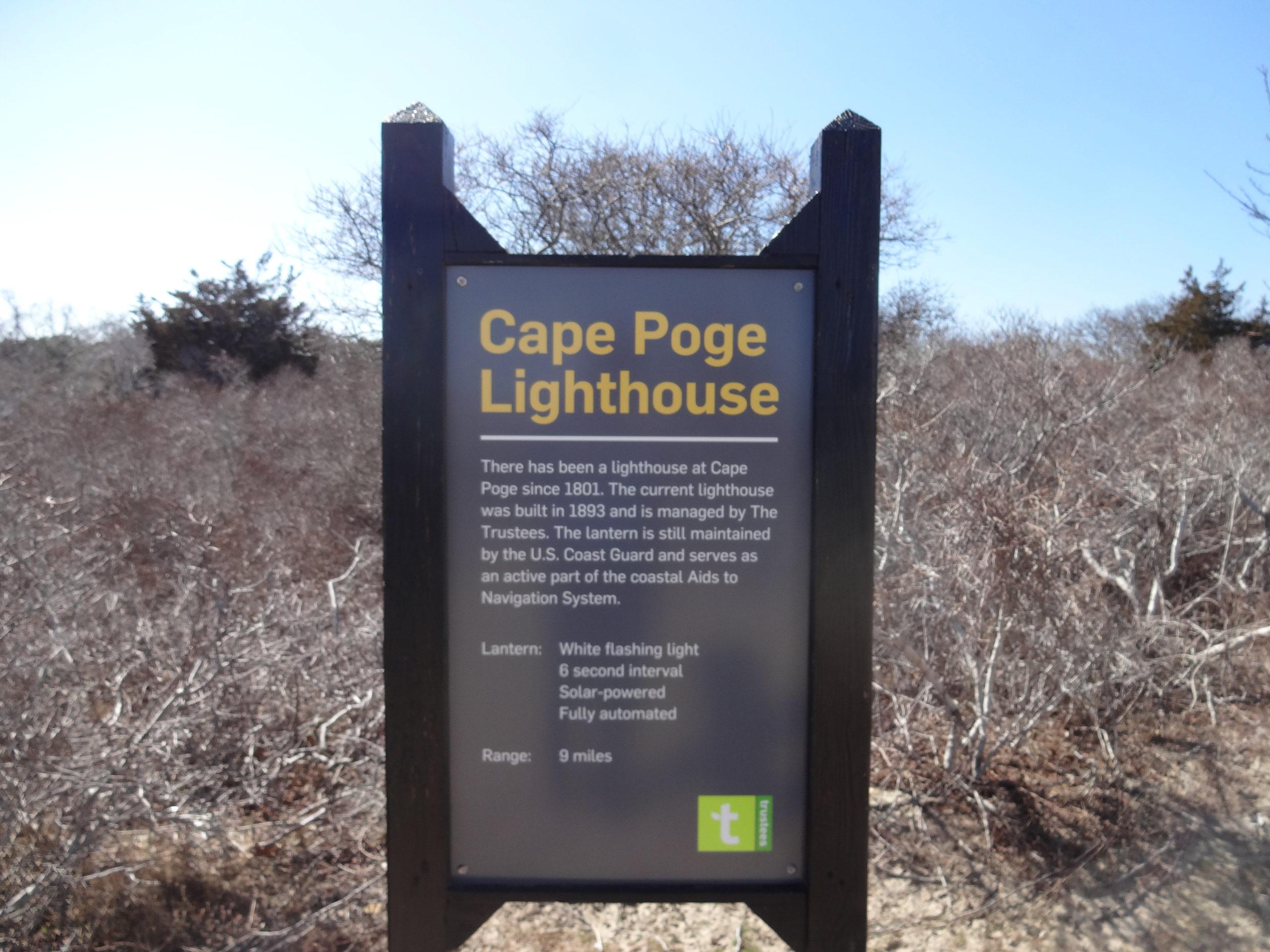 Info Board at Cape Poge Light
